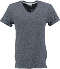 minimum langer stevig zacht blauw slim fit t-shirt