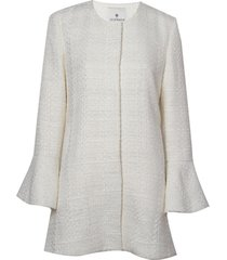 casaco le lis blanc nayara tweed alfaiataria off white feminino (dust, 50)