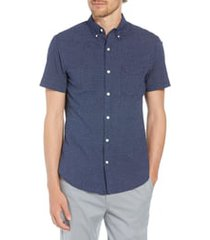 men's bonobos slim fit poppy print shirt, size large r - blue
