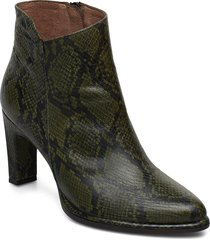 m-4302 shoes boots ankle boots ankle boots with heel grön wonders