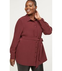 lane bryant women's belted tunic 26 port royale