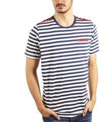camiseta rayas cuello redondo crudo ref. 108041119