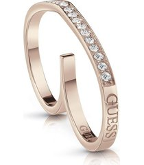 anillo guess shine on me/ubr28005-54 - oro rosa