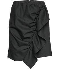 front drape mini skirt knälång kjol svart designers, remix