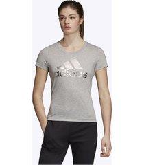 camiseta gris adidas bos foil tee