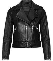 balfern biker leren jack leren jas zwart allsaints