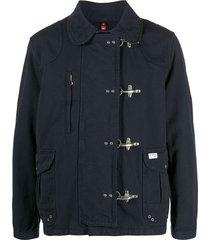 fay industrial-fastening duffle coat - blue