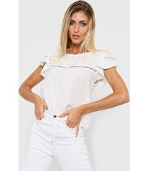 blusa blanca nano pia