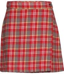 enatwood skirt 6710 kort kjol röd envii