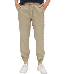 pantalon jogger beige gap