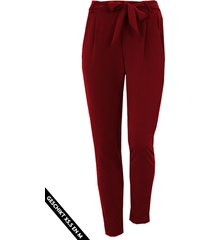 strik broek basic bordeaux