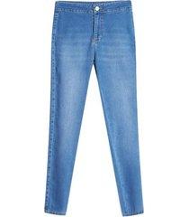 jean mujer sin bolsillos delanteros color azul, talla 10