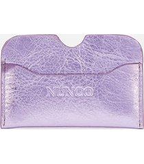 núnoo women's carla metallic card holder - purple