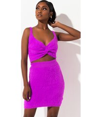 akira grape soda fuzzy knit mini skirt