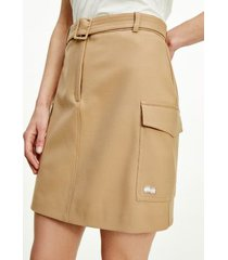 tommy hilfiger women's icon recycled utility skirt classic beige - 12