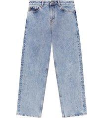 f5718 high-waisted cropped jeans washed indigo
