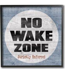 "stupell industries no wake zone beach plank framed giclee art 12"" l x 1.5"" w x 12"" h"