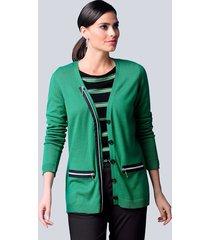 vest alba moda groen::zwart