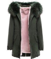 new york parka midi with fur