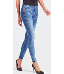 jeansy z 5 kieszeniami i efektem znoszenia