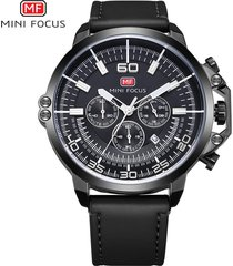 reloj para hombre/correa de piel/ mini focus / 0095g /-negro