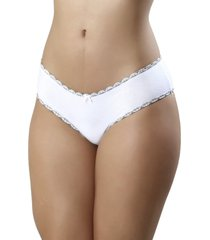 calcinha mardelle algodã£o laterais largas branca - branco - feminino - dafiti