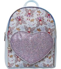 omg accessories unicorn fairy princess print mini backpack with heart pocket