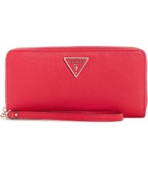 guess sandrine large zip around wallet wristlet