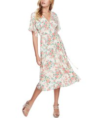 1.state ikat bouquet printed wrap dress