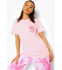 melrose ave palm print t-shirt, light pink