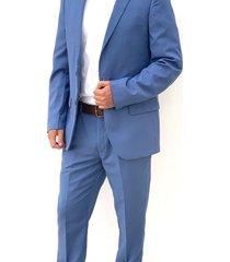 traje azul oscar de la renta  a9sut07-bl