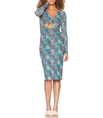 bcbgeneration floral-print cut-out dress