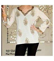 cotton tunic, 'bronze diva' (india)