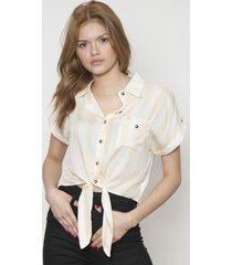 blusa cuello clasico amarilla 609 seisceronueve