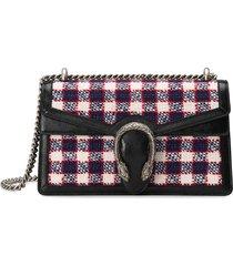 gucci small size tweed dionysus shoulder bag - multicolour