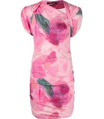 isabel marant sibara printed mini dress