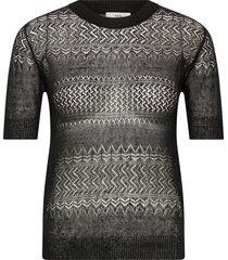 pullover blouses short-sleeved zwart noa noa