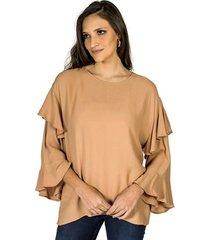 blusa babados colcci feminino