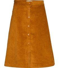 corduroy skirt knälång kjol brun just female