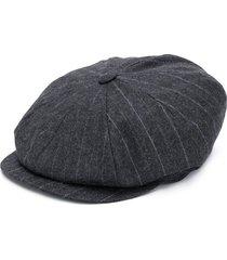brunello cucinelli striped-print paperboy hat - grey