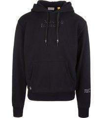 black moncler fragment® man hoodie