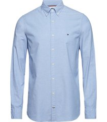 core stretch slim oxford shirt overhemd business blauw tommy hilfiger