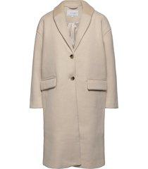 vicallee wool coat/su/des yllerock rock grå vila