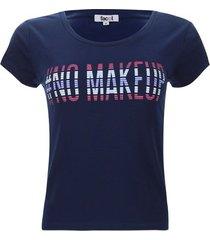 camiseta descanso no makeup color azul, talla s