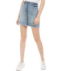 indigo rein juniors' zippered denim skirt