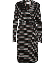 dress long sleeve knälång klänning svart noa noa