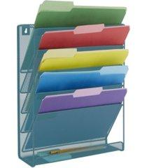 mind reader 6 pocket desk organizer, wall mounted magazine rack