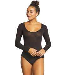 free people women's bodysuit easy peasy - black - x-small cotton