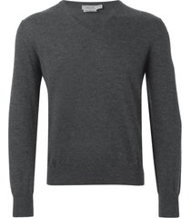 fashion clinic timeless v-neck sweater - grey