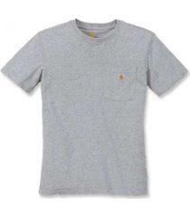 carhartt t-shirt women workwear pocket s/s t-shirt heather grey-xl